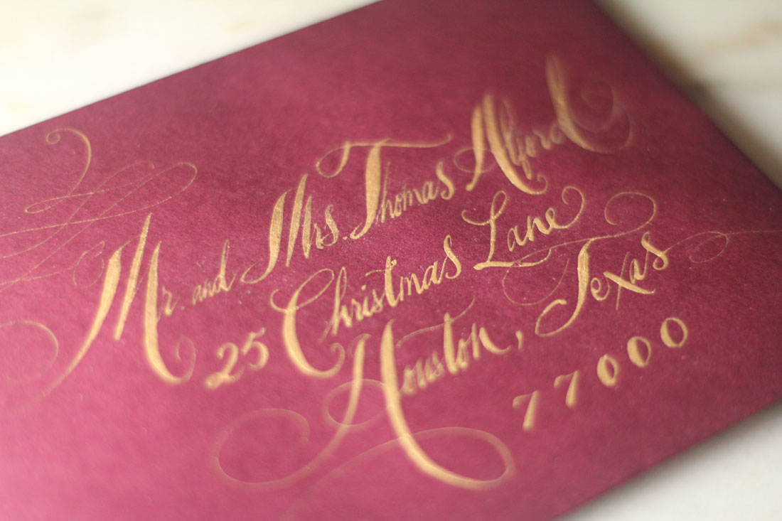 Dallas Calligraphy and Dallas Wedding Invitations • Tara Jones ...