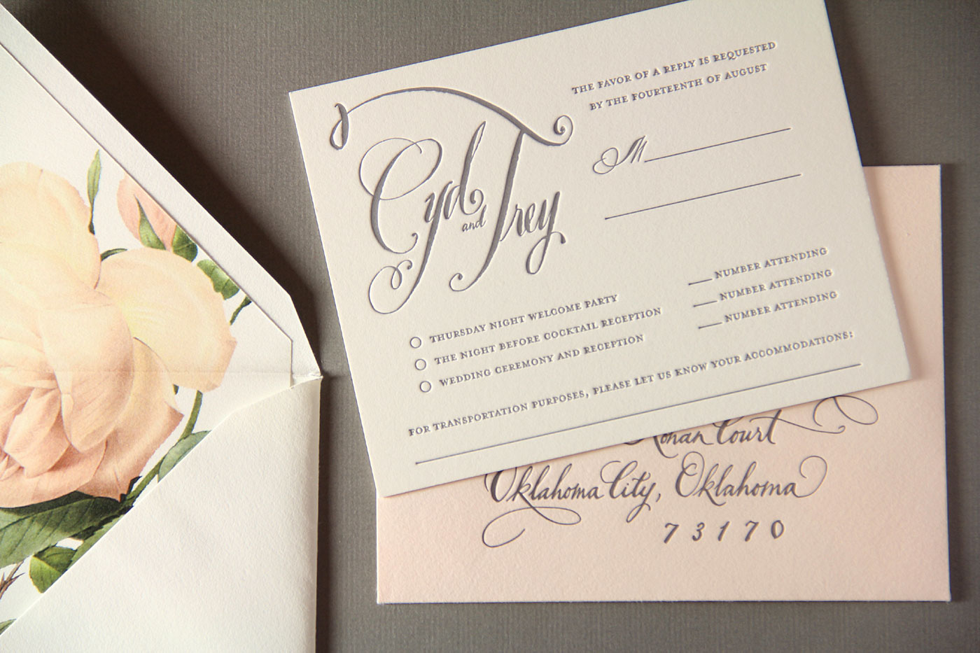 Dallas Calligraphy And Wedding Invitations Tara Jones